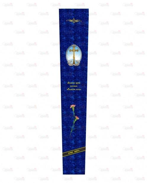 """Столешница с фотопечатью """"модель Гвоздика с крестом синяя"""""""